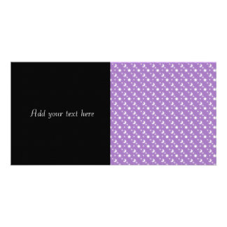 Celestial Stars and Moons on Purple Pattern Photo Card