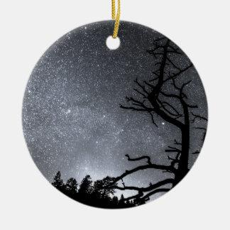 Celestial Stellar Dark Universe Double-Sided Ceramic Round Christmas Ornament