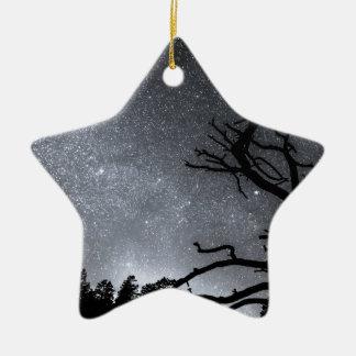 Celestial Stellar Dark Universe Double-Sided Star Ceramic Christmas Ornament
