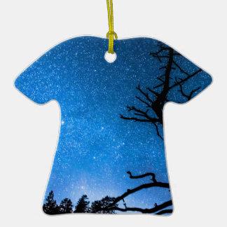 Celestial Stellar Universe Double-Sided T-Shirt Ceramic Christmas Ornament