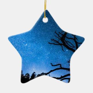 Celestial Stellar Universe Double-Sided Star Ceramic Christmas Ornament