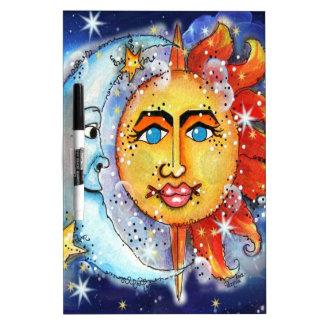 Celestial Sun and Moon Design Dry-Erase Boards