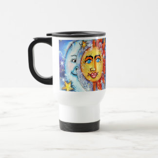Celestial Sun and Moon Design Coffee Mug