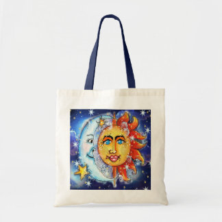 Celestial Sun and Moon Design Tote Bag