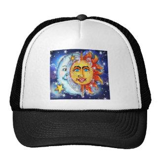 Celestial Sun and Moon Design Trucker Hat