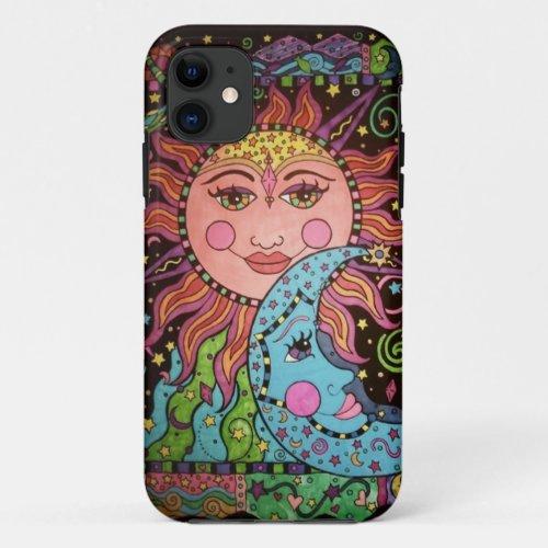 Celestial Sun and Moon Print Phone Case