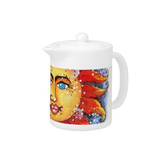 Celestial Sun and Moon Tea Pot