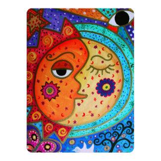 CELESTIAL SUN AND MOON WEDDING ABSTRACT COUPLE CARD