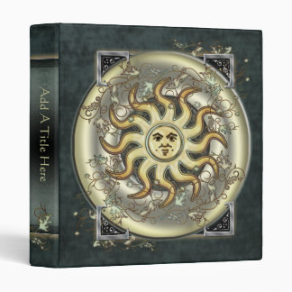 "Celestial Sun Design 1"" Avery Binder"