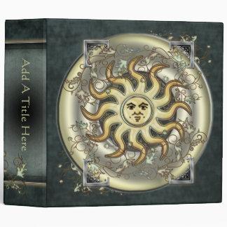 """Celestial Sun Design 2"""" Avery Binder"""