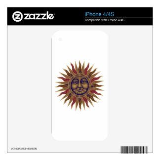 Celestial Sun Face iPhone 4 Decal