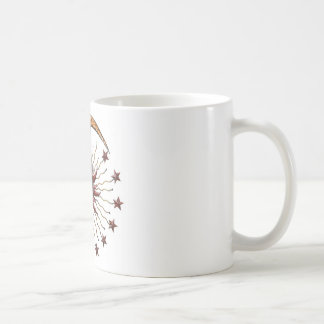 CELESTIAL SUN MOON & STARS ABSTRACT COFFEE MUG