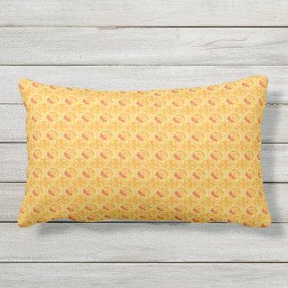 Celestial Sun Yellow Outdoor Pillow