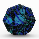 Celestial Techno Blue & Black Pattern Award