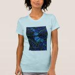 Celestial Techno Blue & Black Pattern T-Shirt