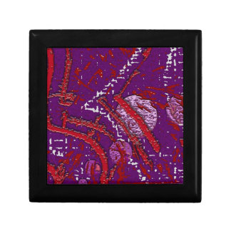 Celestial Techno Red & Purple Pattern Gift Box