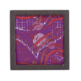 Celestial Techno Red & Purple Pattern Jewelry Box