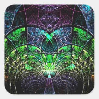 Celestial Tree Square Sticker