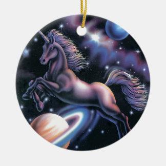 Celestial Unicorn Christmas Tree Ornaments