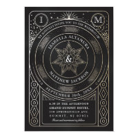 Celestial Union Wedding Invitations (Gold)