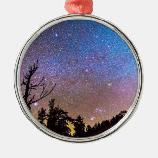 Celestial Universe Round Metal Christmas Ornament