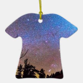 Celestial Universe Double-Sided T-Shirt Ceramic Christmas Ornament