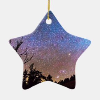 Celestial Universe Double-Sided Star Ceramic Christmas Ornament