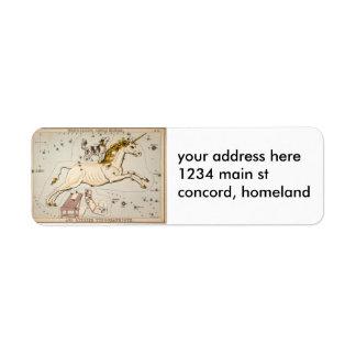Celestial Vintage Map Label