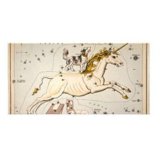 Celestial Vintage Map Customized Photo Card
