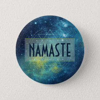 Celestial Watercolor Sacred Geometry Custom Pinback Button