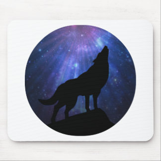 Celestial Wolf Mouse Pad