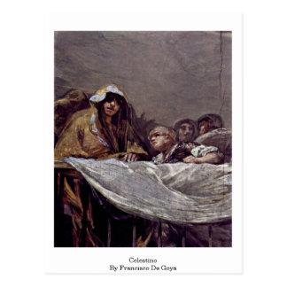 Celestino de Francisco De Goya Tarjeta Postal