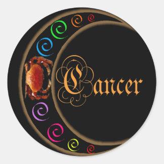 Celestrial está en la luna al cáncer del zodiaco pegatina redonda