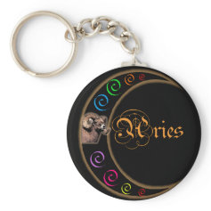 Celestrial Moon Aries Keychain