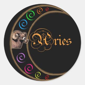 Celestrial Moon Aries Stickers