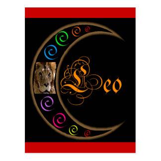 Celestrial Moon Leo Postcard