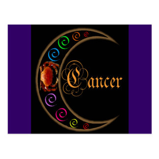 Celestrial Moons Zodiac Cancer Postcard