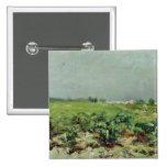 Celeyran, vista del viñedo, 1880 pin cuadrado