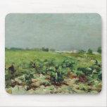 Celeyran, vista del viñedo, 1880 tapete de ratón