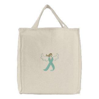 Celiac Awareness Angel Ribbon Tote Bag