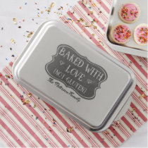 Celiac Baked With Love Not Gluten Personalized Cake Pan