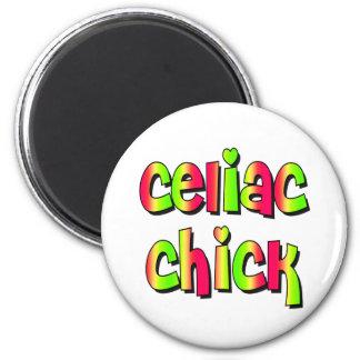 Celiac Chick 2 Inch Round Magnet