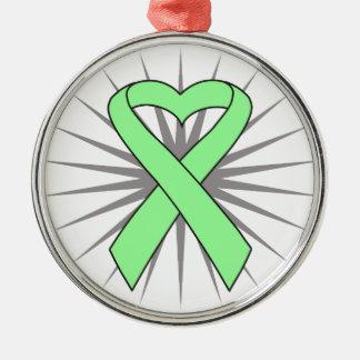 Celiac Disease Awareness Heart Ribbon Ornaments