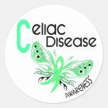 Celiac Disease BUTTERFLY 3.1 Classic Round Sticker