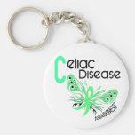 Celiac Disease BUTTERFLY 3.1 Basic Round Button Keychain