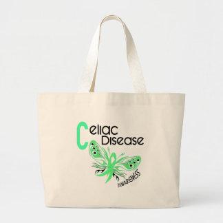 Celiac Disease BUTTERFLY 3.1 Large Tote Bag