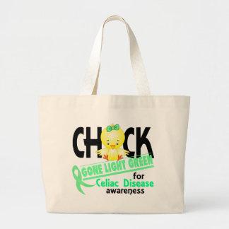 Celiac Disease Chick Gone Light Green 2 Jumbo Tote Bag