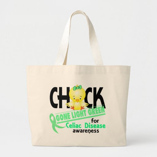 Celiac Disease Chick Gone Light Green 2 Tote Bags