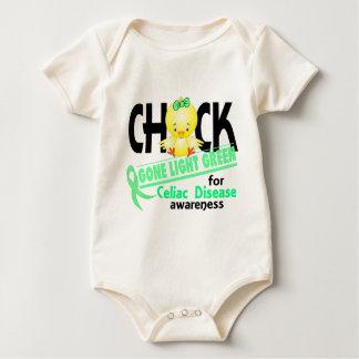Celiac Disease Chick Gone Light Green 2 Bodysuit