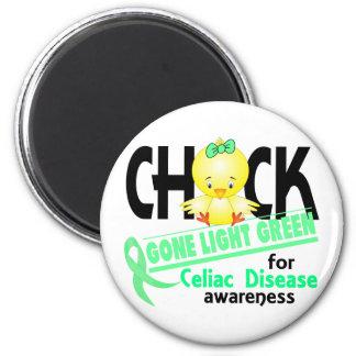 Celiac Disease Chick Gone Light Green 2 2 Inch Round Magnet
